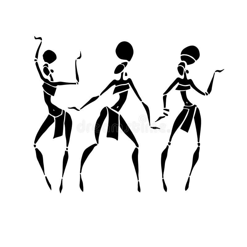 Mujeres hermosas africanas libre illustration