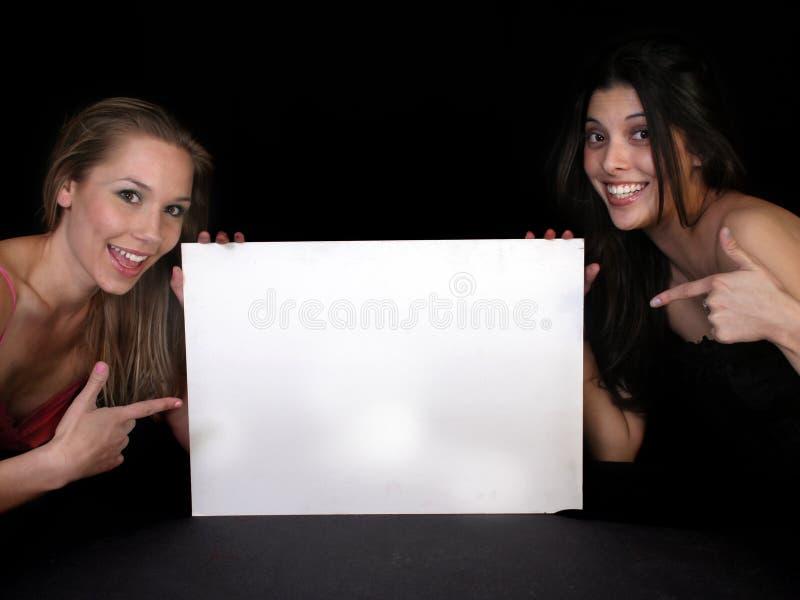 Mujeres hermosas del anuncio imagen de archivo