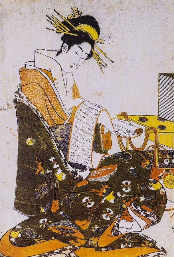 Mujeres japonesas en vestido tradicional foto de archivo
