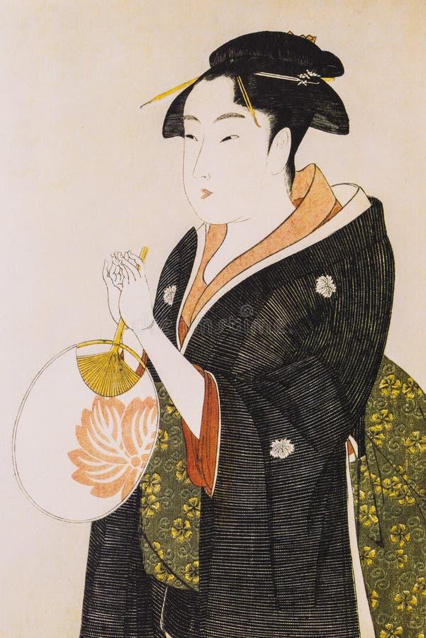 Mujeres japonesas en vestido tradicional fotos de archivo libres de regalías