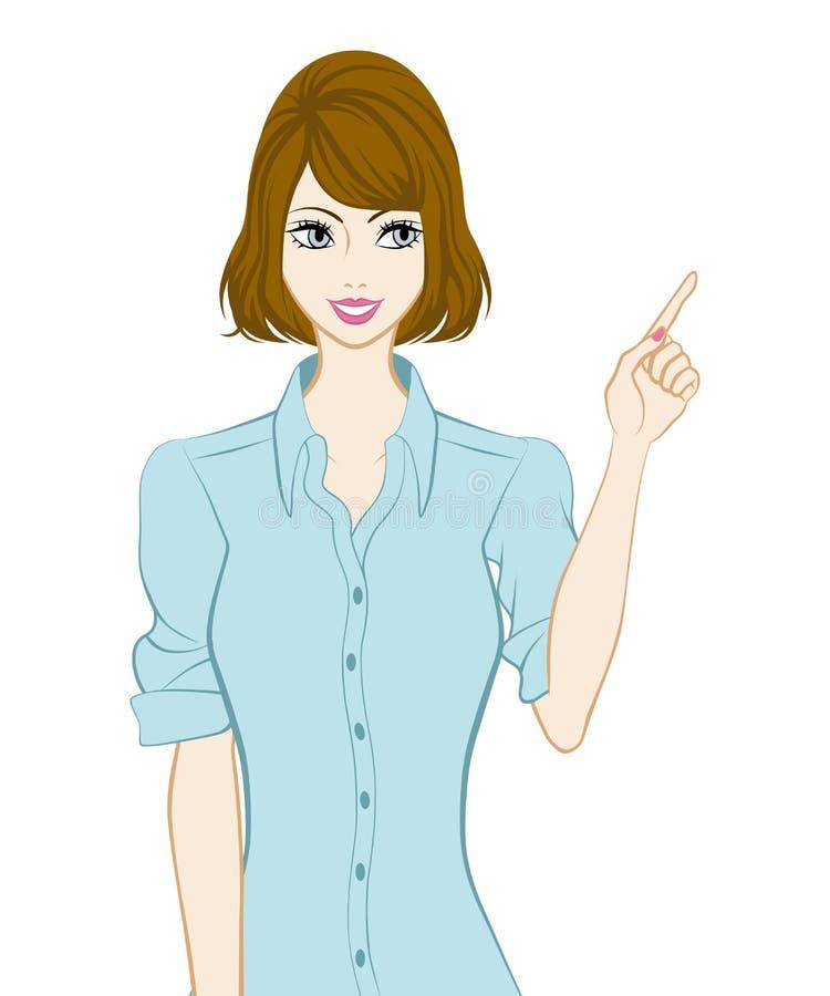 Mujeres meneadas del pelo, señalando libre illustration