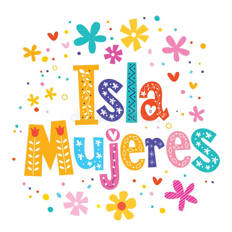 Mujeres Mexique d'Isla illustration stock