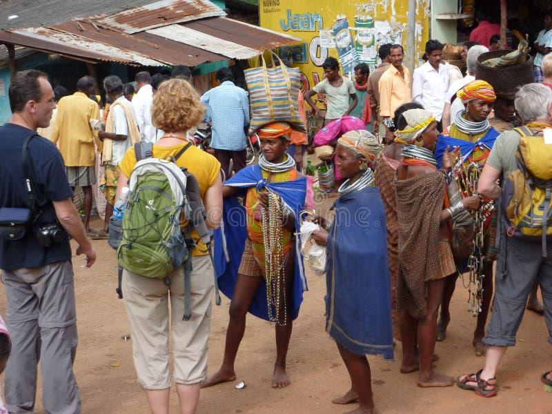 Mujeres tribales de Bonda fotografía de archivo libre de regalías