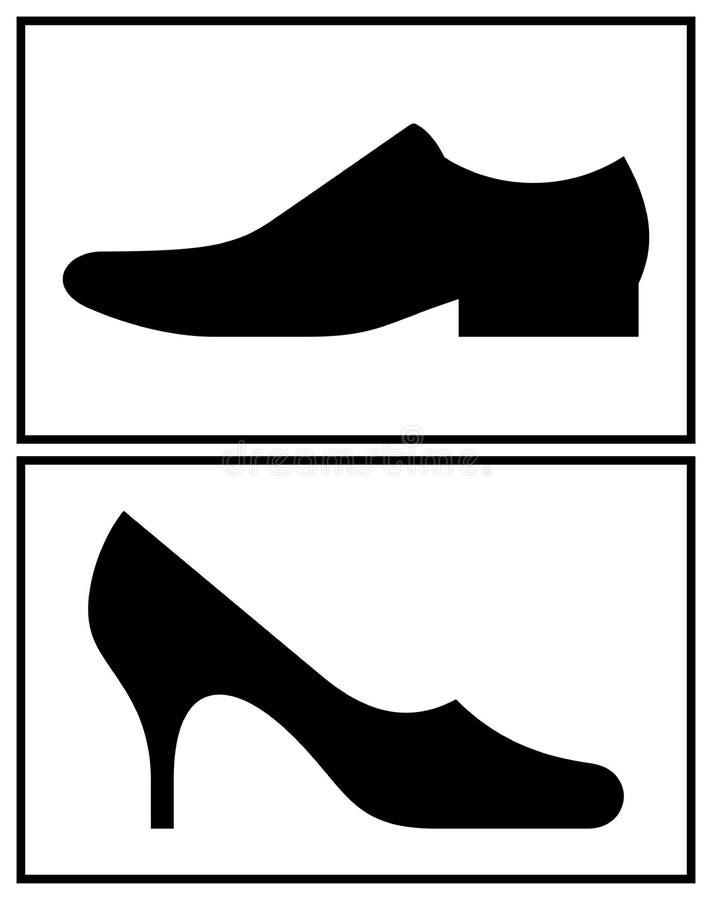 Mujeres y el zapato de los hombres libre illustration