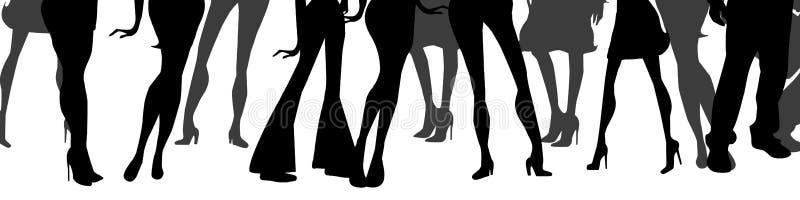mujeres y piernas de los hombres stock de ilustración