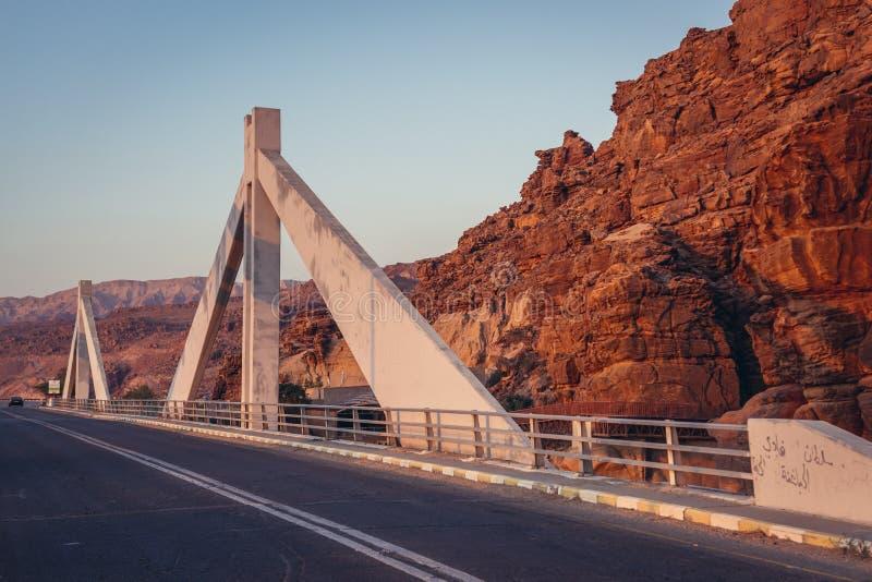 Mujib Bridge in Jordan royalty free stock photo