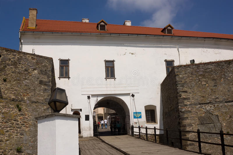 Mukachevokasteel Palanok Mukachevo Historisch Museum stock afbeeldingen