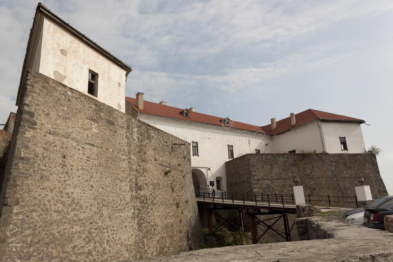 Mukachevokasteel Palanok Mukachevo Historisch Museum stock afbeelding