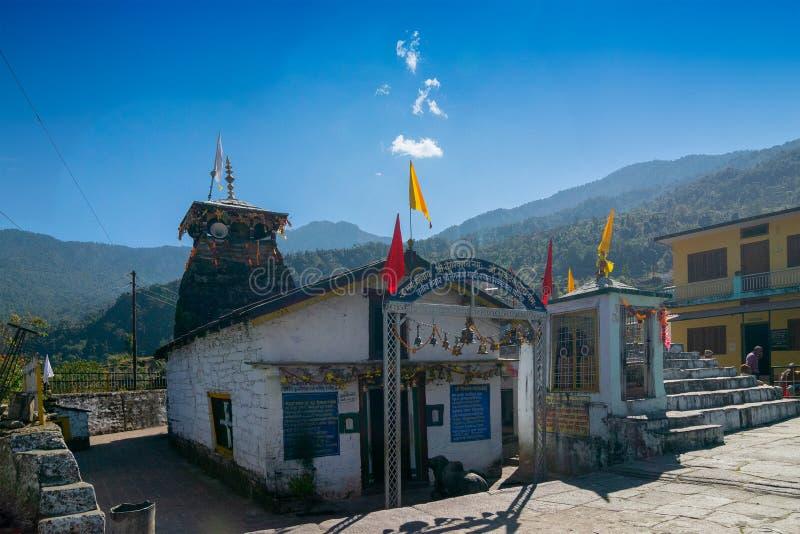 Mukhumath寺庙,北阿坎德邦,Garhwal,印度 免版税库存图片
