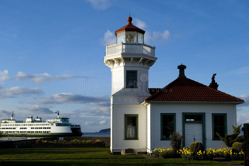 Download Mukilteo lighthouse stock image. Image of ocean, park, puget - 594617