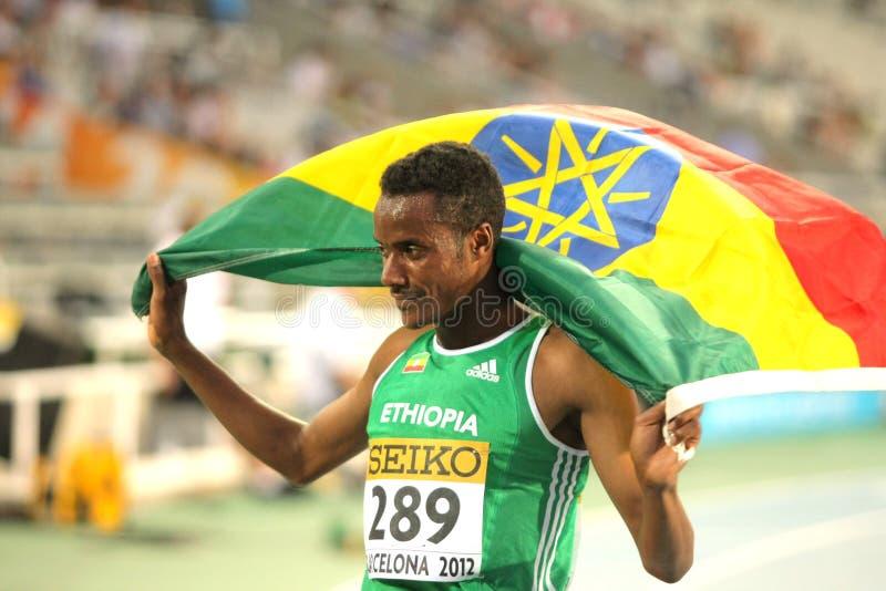 Muktar Edris Etiopia zdjęcie stock