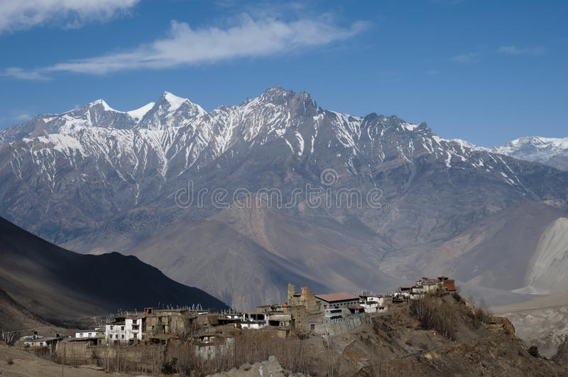 Muktinath Village - Nepal. Picturesque Muktinath Village in Nepal royalty free stock image
