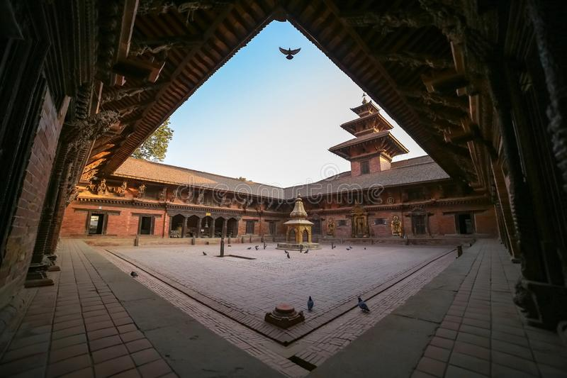 Patan Durbar Sqare. Mul Chowk, the largest and oldest of the Royal Palace's three main chowk squares at Patan Durbar Sqare royalty free stock photos