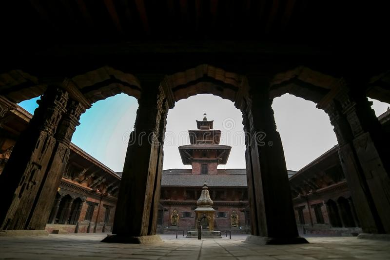 Patan Durbar Sqare. Mul Chowk, the largest and oldest of the Royal Palace's three main chowk squares at Patan Durbar Sqare royalty free stock photo