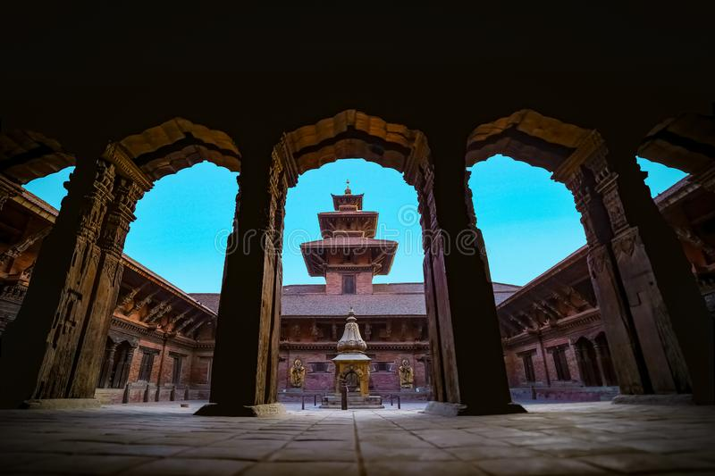 Mul Chowk of Patan Durbar Square stock photo