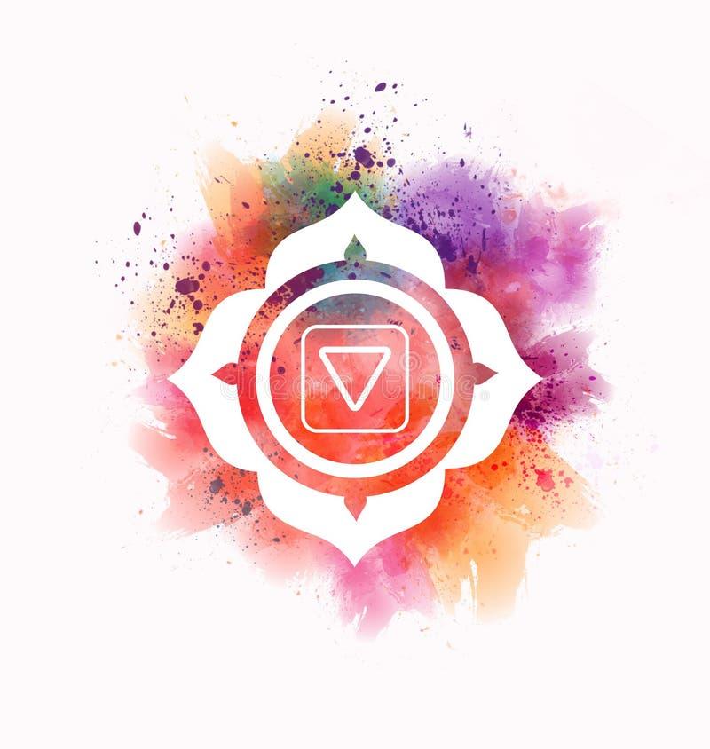 Muladhara chakra vector illustration
