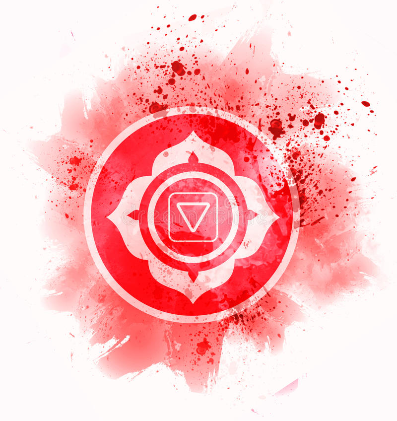 Muladhara chakra symbol royalty free illustration