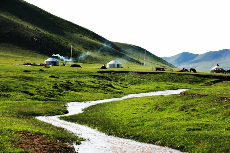 mulan小牧场yurts 免版税库存照片
