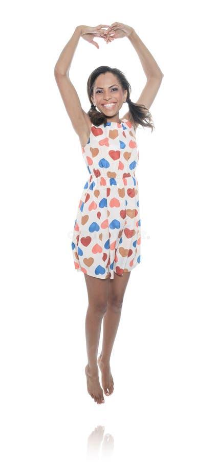 Mulata wzorcowy być ubranym z Kierową suknią obraz stock