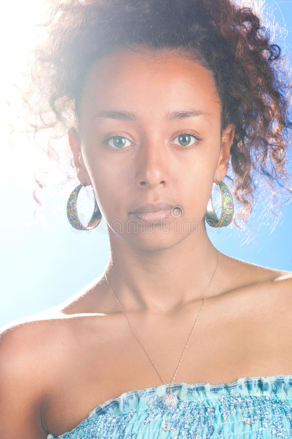 Download Mulatto beauty stock photo. Image of african, model, glamour - 18777776