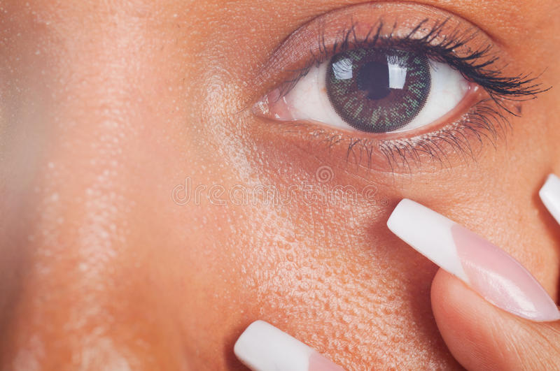 Download Mulatto eye stock photo. Image of finger, flare, french - 18778240