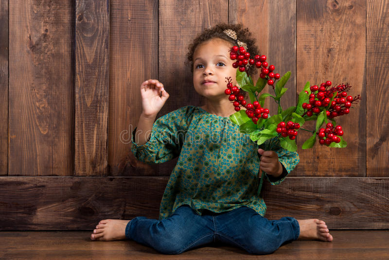 Download Mulatto Girl With Berries In Her Hands Stock Image - Image: 34373767