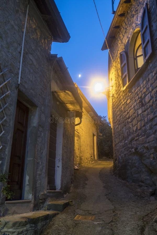 Mulazzo, stara wioska w Lunigiana obrazy stock