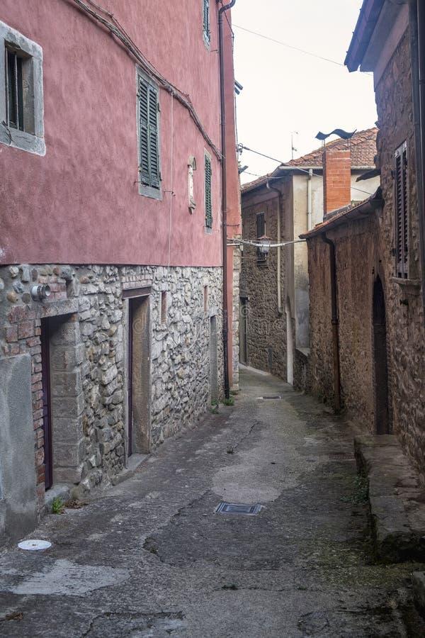Mulazzo, stara wioska w Lunigiana zdjęcia royalty free