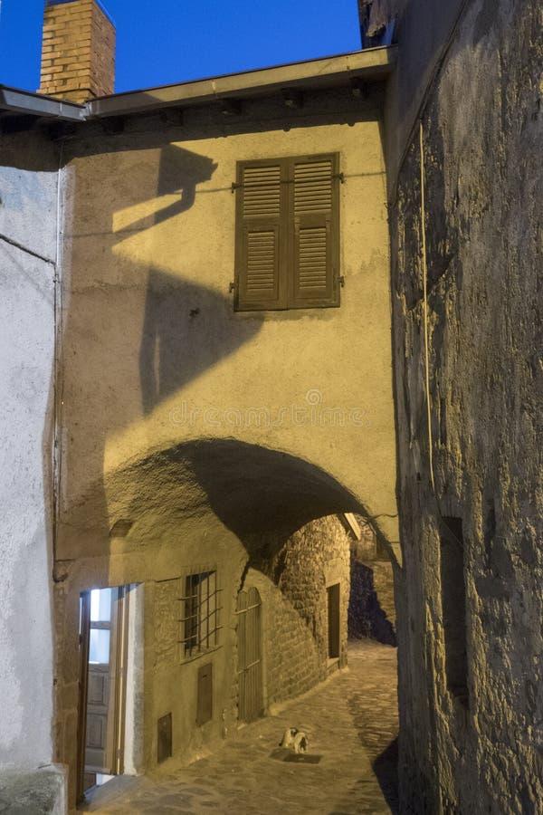 Mulazzo, vecchio villaggio in Lunigiana fotografia stock