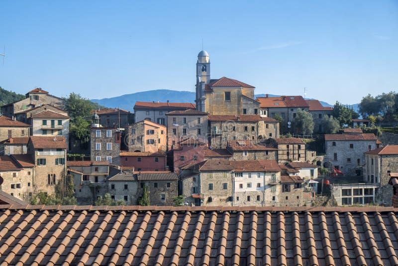 Mulazzo, vecchio villaggio in Lunigiana fotografia stock libera da diritti