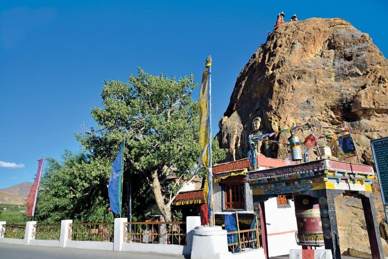 Mulbek Chamba e monastério, Mulbek-Kargil, Ladakh, Índia fotografia de stock