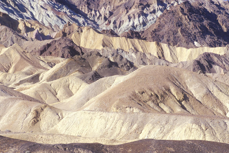 20 Mule Team Canyon, Death Valley, California stock photography
