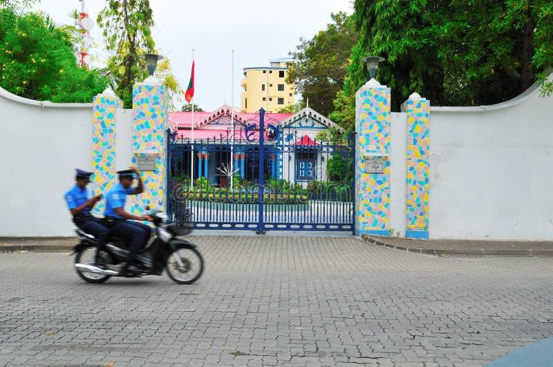 Muleeaage Palast in Maldives lizenzfreies stockbild