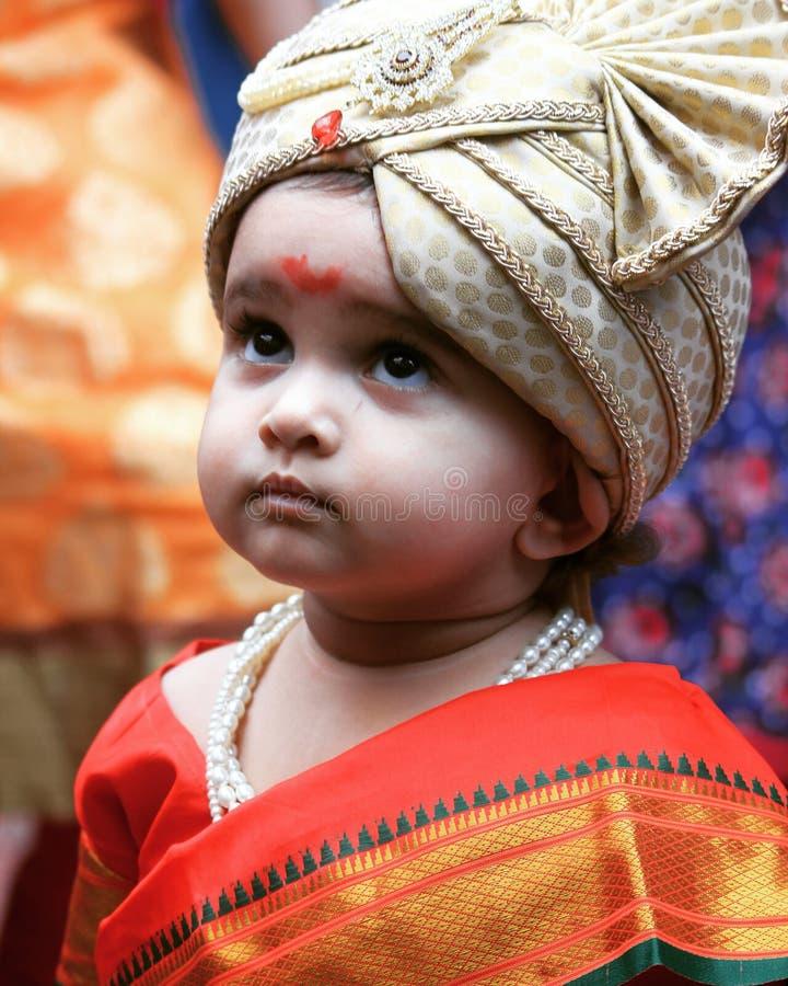 Mulgi maharashitan de fille mignonne photographie stock