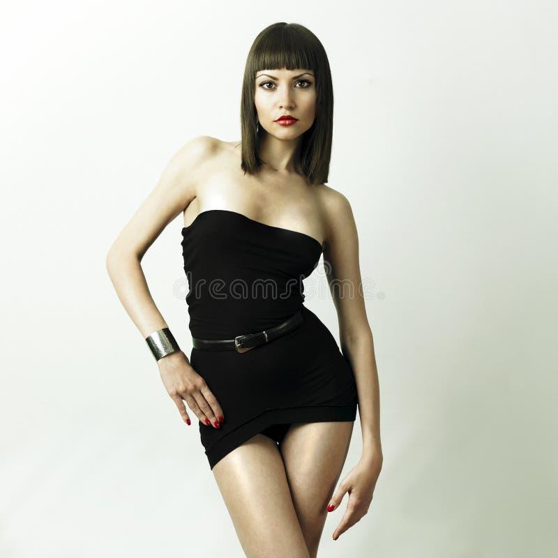 Mulher à moda nova no bracelete imagens de stock royalty free