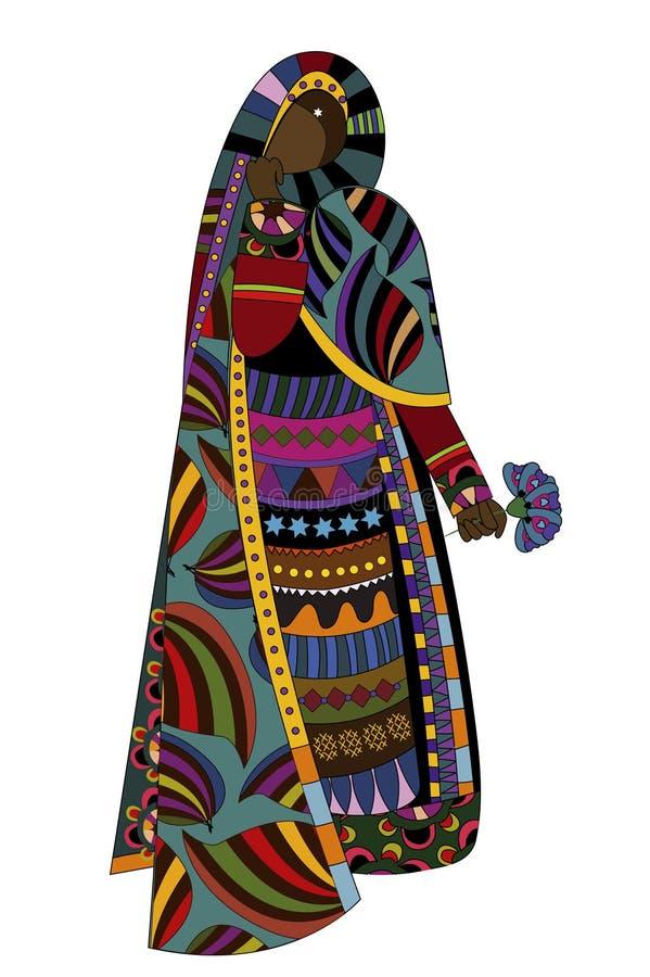 Mulher étnica ilustração stock