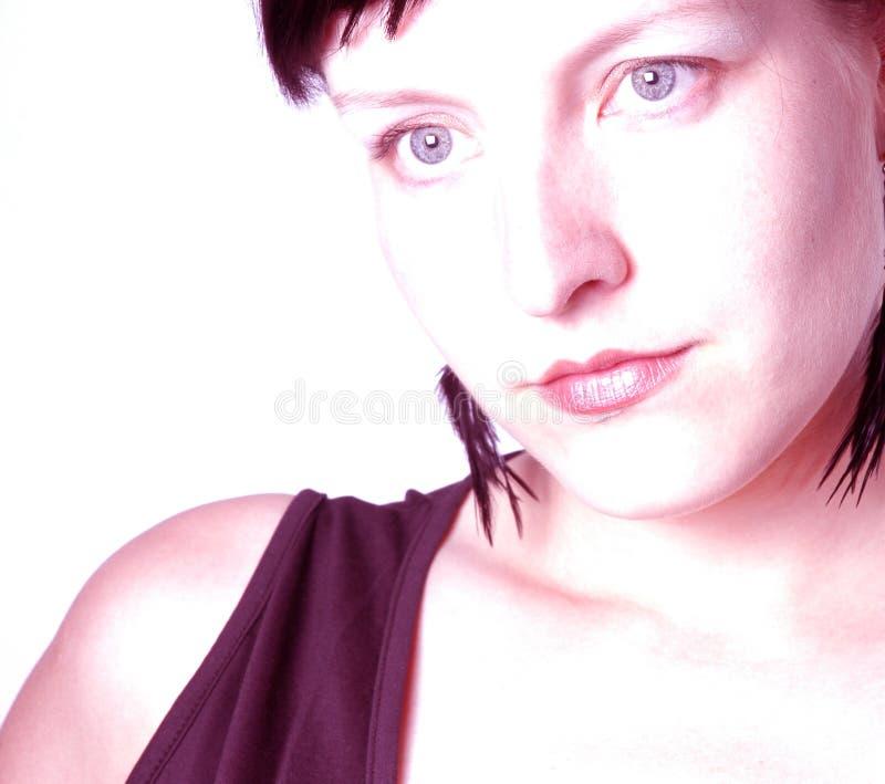 Download Mulher imagem de stock. Imagem de cabeça, nariz, pessoa - 200601