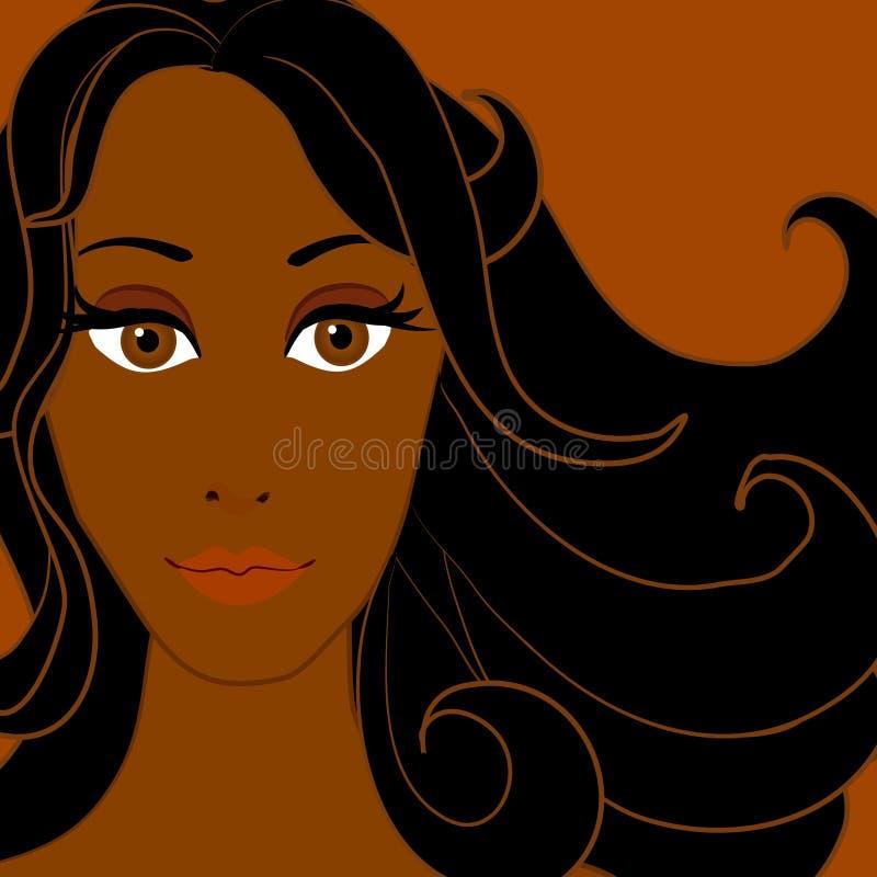 Mulher 3 do americano africano ilustração royalty free