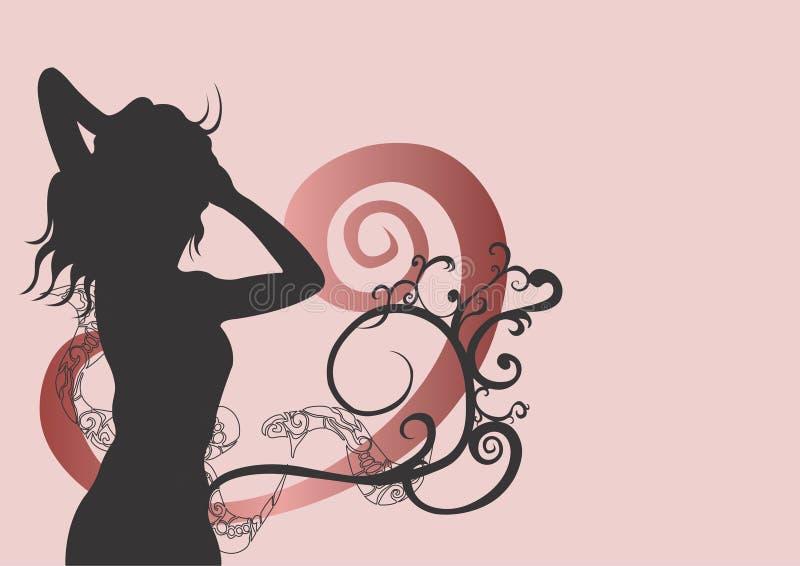 Download Mulher ilustração stock. Ilustração de fêmea, grampo, pattern - 527969