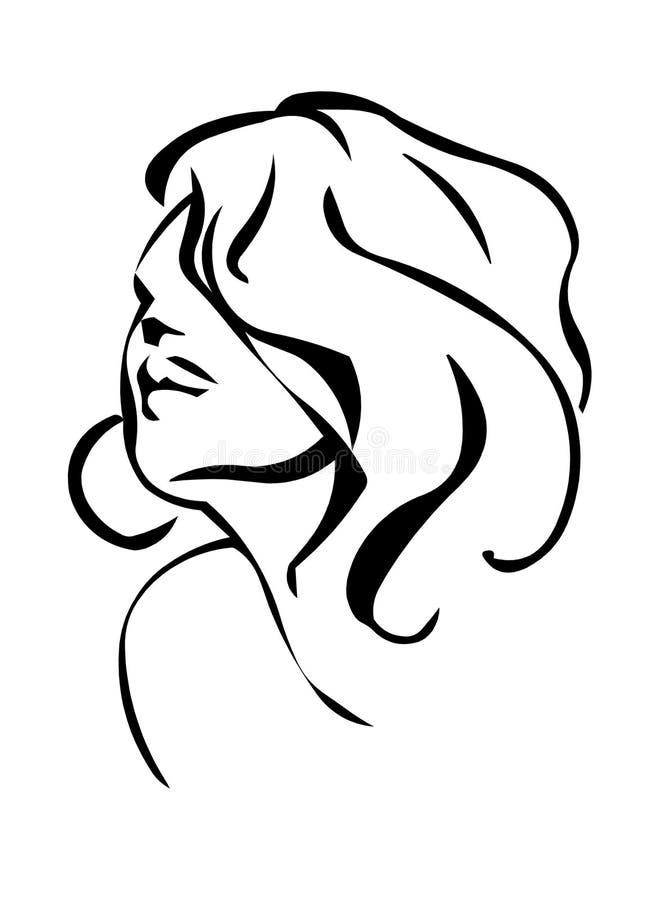 Mulher ilustração royalty free