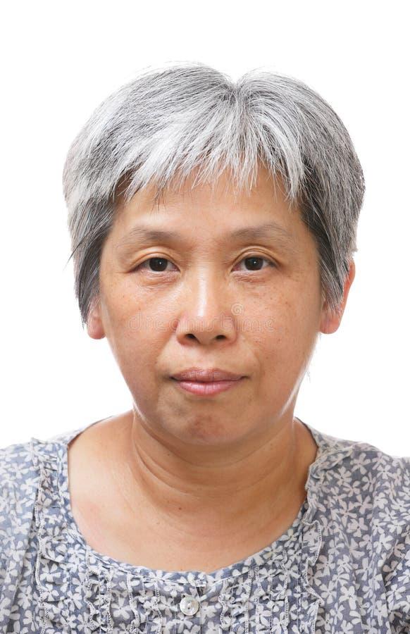 mulher 60s asiática sênior fotografia de stock