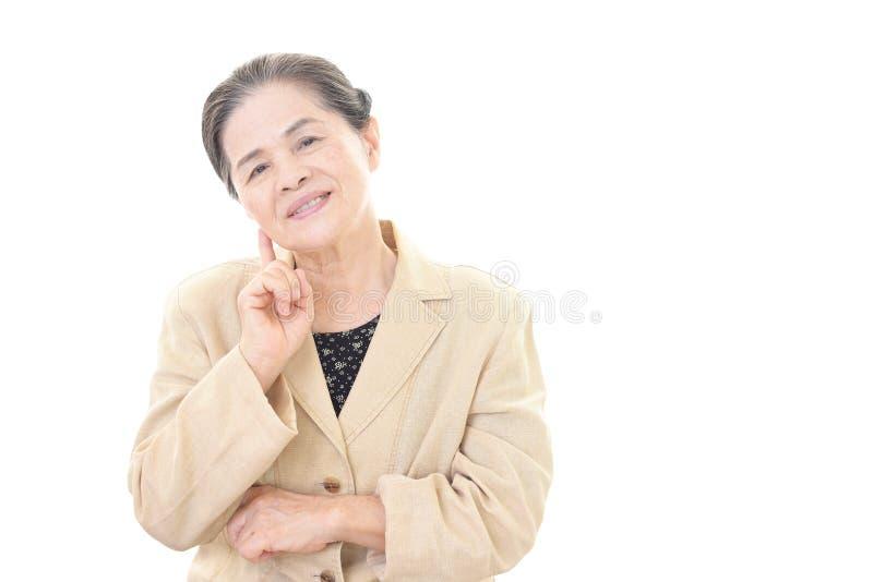 Mulher adulta relaxado fotografia de stock royalty free