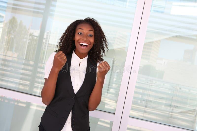 Mulher africana bem sucedida imagens de stock royalty free