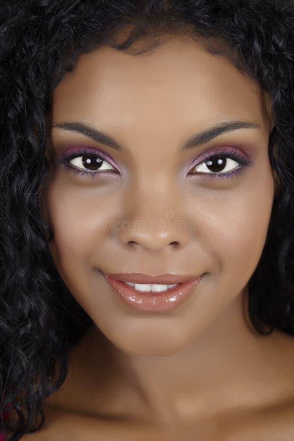 Mulher africana bonita fotografia de stock