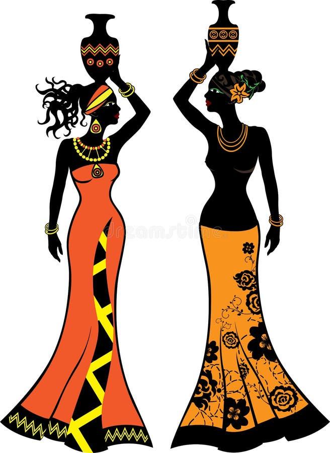 Mulher africana bonita ilustração royalty free