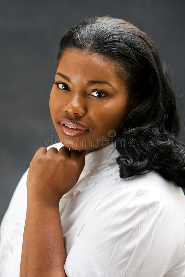 Mulher africana bonita foto de stock