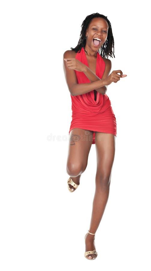 Mulher africana de dança imagens de stock royalty free