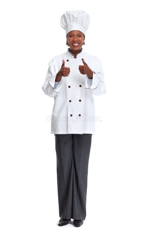 Mulher africana do cozinheiro chefe foto de stock royalty free
