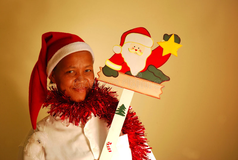 Mulher africana do Natal fotos de stock royalty free