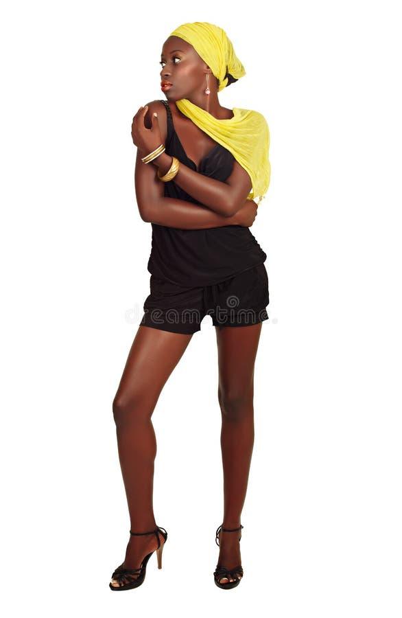 Mulher africana no partido fotos de stock royalty free